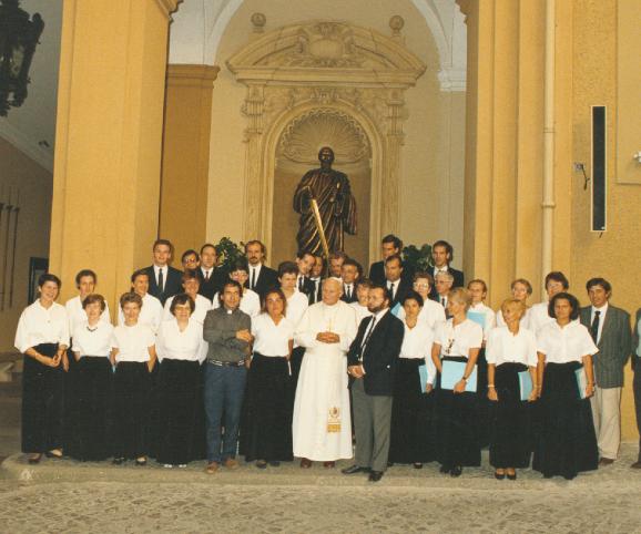 Avec Jean-Paul II 1990