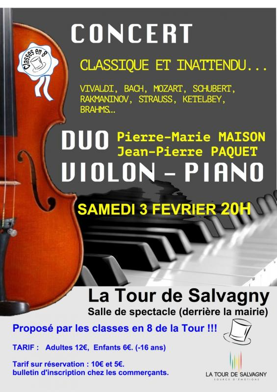 Affiche concert classes en 8