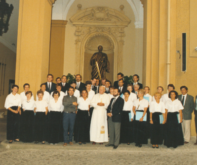 Le Choeur mixte avec JPaul II 1990